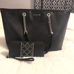 Black Studded Michael Kors Set